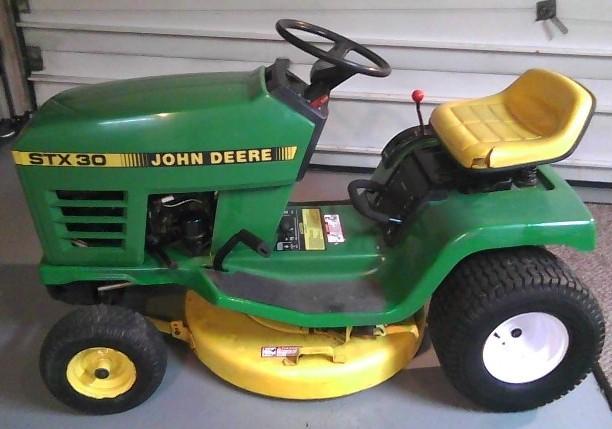 John Deere Stx 38 : John deere stx lawn garden tractors service
